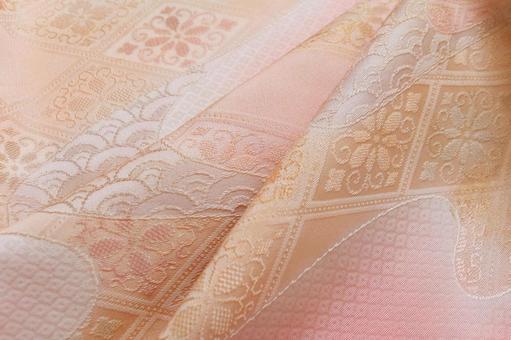 美麗的布絲綢布絲綢粉紅色黃色日本風格日式粉紅色黃色
