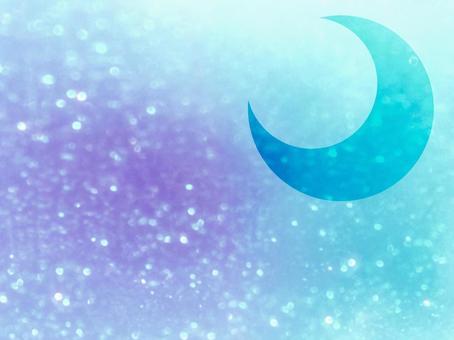 배경 배경 화면 반짝 초승달 달 파란