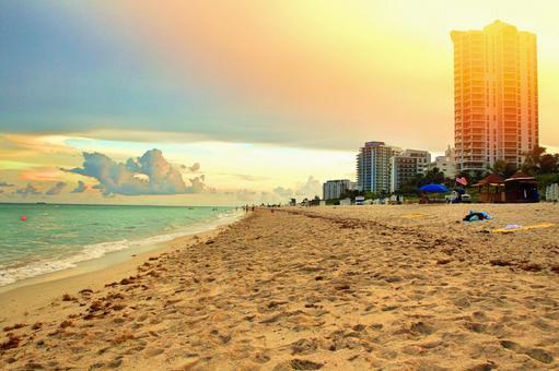 Miami Beach at dusk