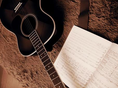 Guitar and music notation