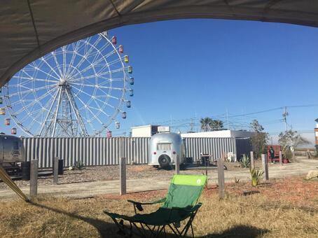 Campground where you can see the Ferris wheel