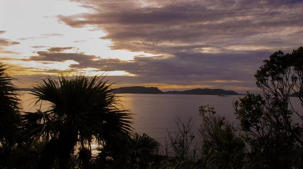 토카 시키 섬 일몰