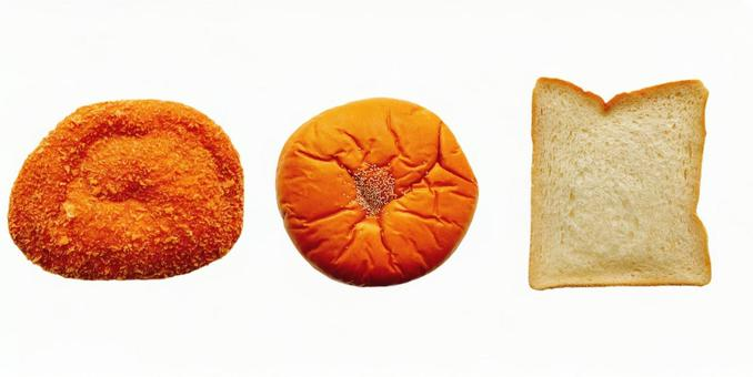 팥빵, 식빵, 카레 빵 5