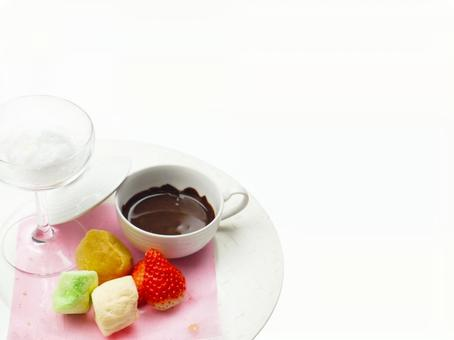 Dessert cheese fondue advertising material
