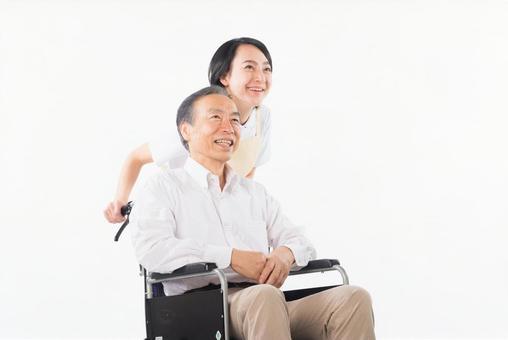 Men and nurses on a wheelchair 33