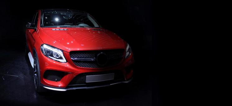 Imported car luxury image background background Benz red free copy space