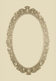Circular antique frame
