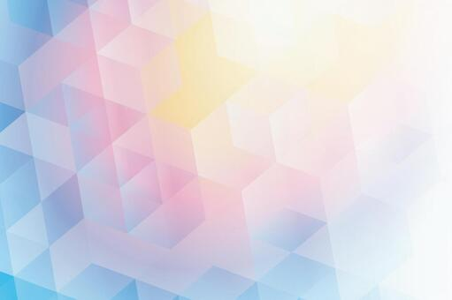 Rainbow hexagon abstract background texture material