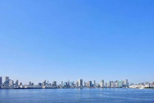 도쿄의 빌딩 원경