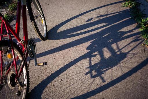 自行车1的阴影