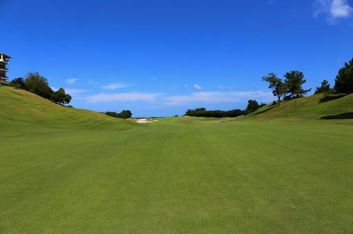Golf course second shot fairway