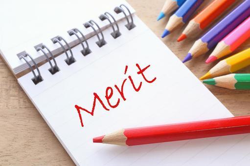 優點MERIT彩色鉛筆和筆記本圖像材料