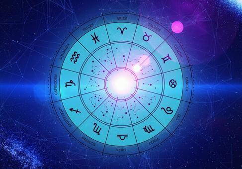 太空背景中的12個星座