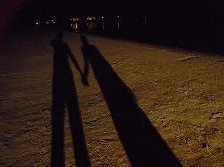 Maldives / shadow of sandy beach