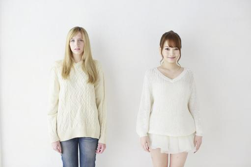 Female friend Foreigner and Japanese 8