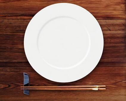 White dish of Japanese food image