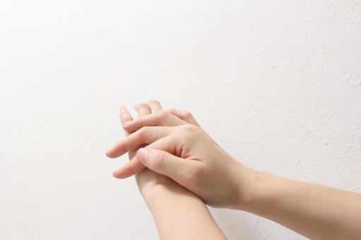 손을 씻는 행동