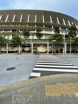 Autumn sky and new national stadium