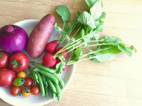 Background material vegetable plate