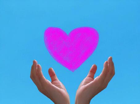 Hands that support the heart (love / marriage)