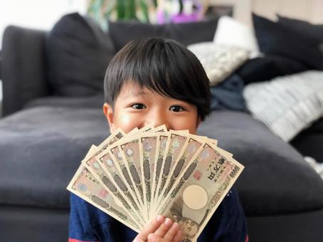 100,000日元現金和boy_01