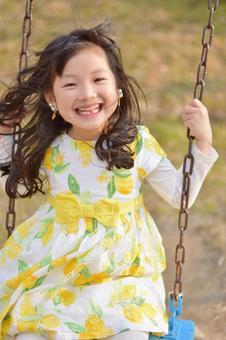 Girl on a swing