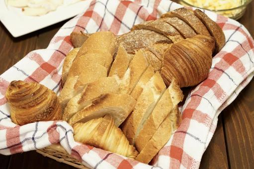 Bread open sandwich on the table