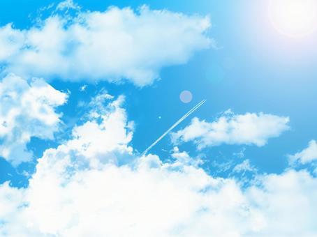 Blue sky 016-contrail