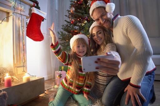 Family taking photos