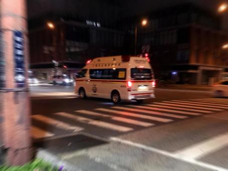 Ambulance express at night