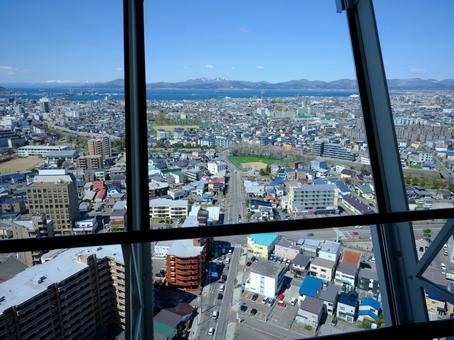 Hakodate City as seen from Goryokaku Tower
