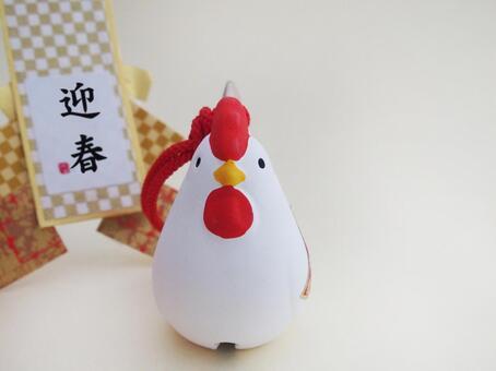 公鸡雕像你好春天