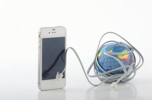 IPhone and the globe 1