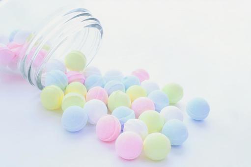 Colorful ramune sweets image material