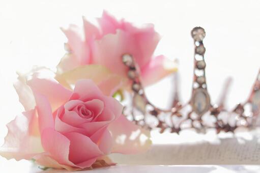 玫瑰和頭飾