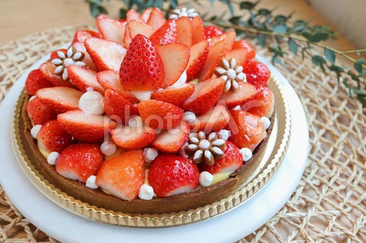 イチゴのタルトの写真