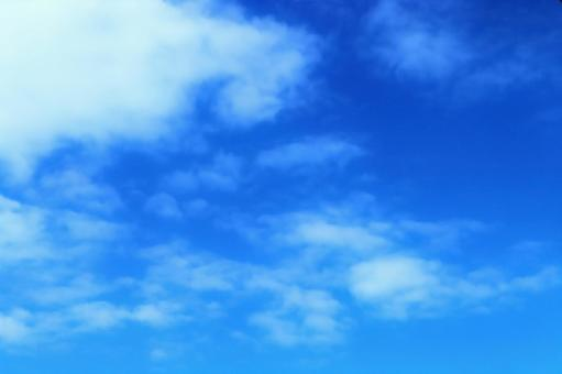 Sky Blue sky and clouds Blue sky Sky and clouds Fluffy sky Background Soft clouds floating in the blue sky Blue White Autumn