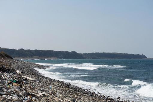 풍경 돌 바닷가 바다