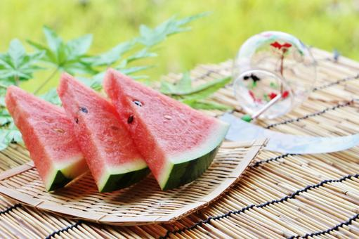Watermelon and wind chime