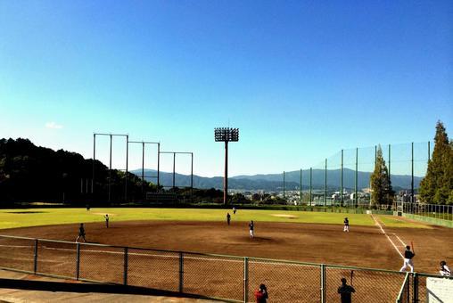Baseball field ground baseball game practice