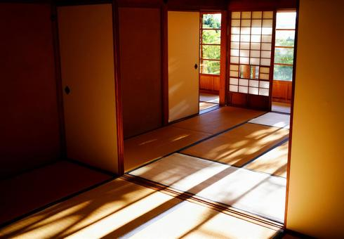 Japanese-style room with tatami mats