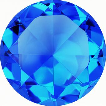 ROYAL BLUE Sapphire color crystal (with clipping pass)