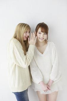 Female friend Foreigner and Japanese 14