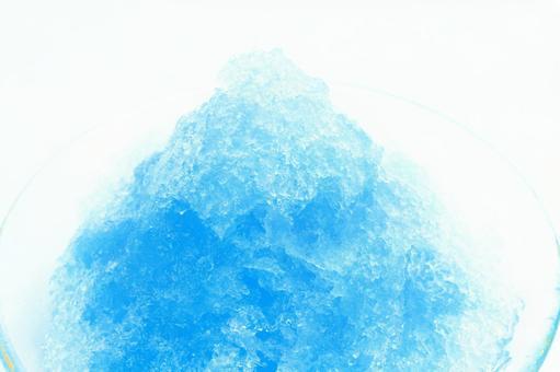 刨冰(藍色夏威夷)夏天形象冷