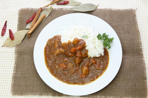 Curry and rice and spices 5