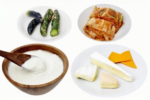 含有活乳酸菌的食物酸奶天然奶酪泡菜米糠泡菜
