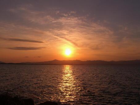 Sunset of Lake Biwa 001