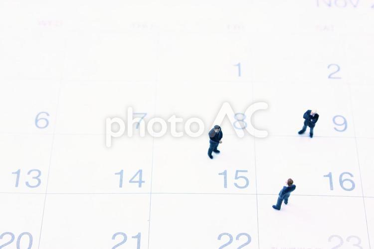 ミニチュアビジネスマン カレンダー2の写真