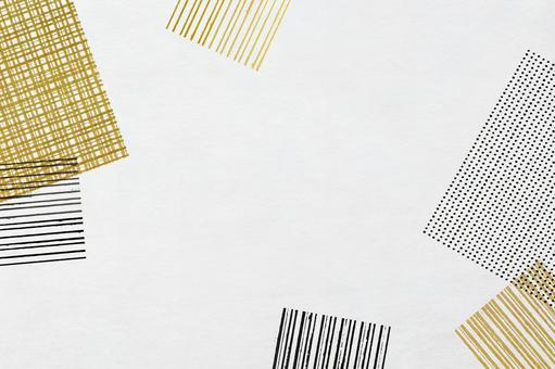 方形圖案日本紙紋理_日本現代圖案框架背景材料