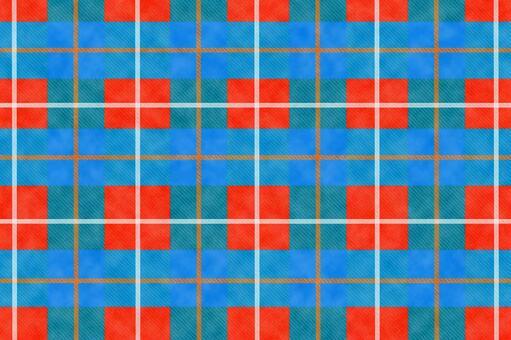 Tartan check_light blue red material